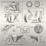 Cafe Fighter Concept Electric Motorbike by Reindy Allendra