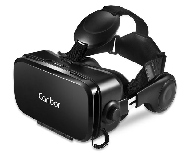 Canbor VR Headset with Built-in HD Stereo Headphones