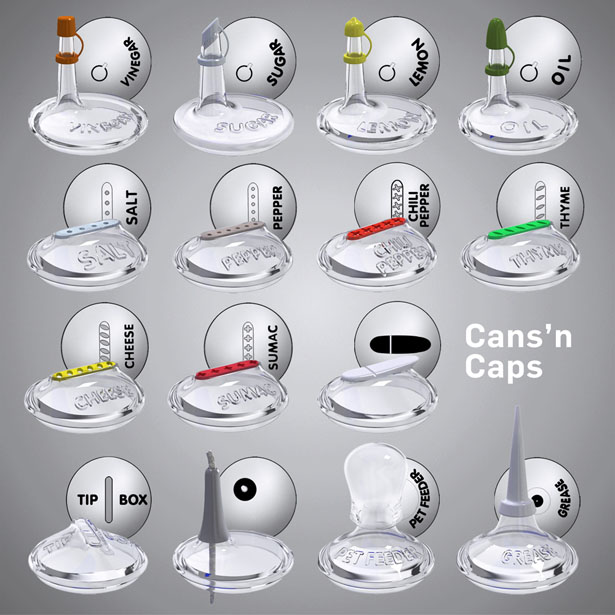 Cans n Caps by Hakan Gursu of DesignNobis