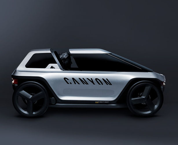 Canyon Future Mobility Concept - It Looks Like a Personal e-Car But It's Actually an e-Bike