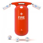 Capsule Fire Extinguisher with Oxygen Tank and Powder Capsules
