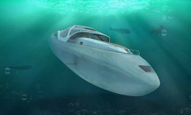 Carapace Superyacht Concept Also Functions As a Submarine by Elena Nappi