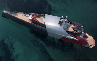 """Carat 187 Superyacht Features """"Red Carpet"""" Style Stairs"""