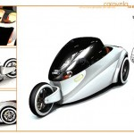 Caravela Three-Wheeled Vehicle with Zero Emission Hydrogen-Powered Engine