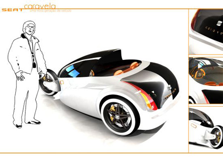 caravela hydrogen three wheels vehicle