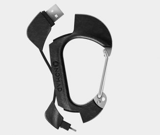 Reliable Carbon Carabiner and Charging Cable in One