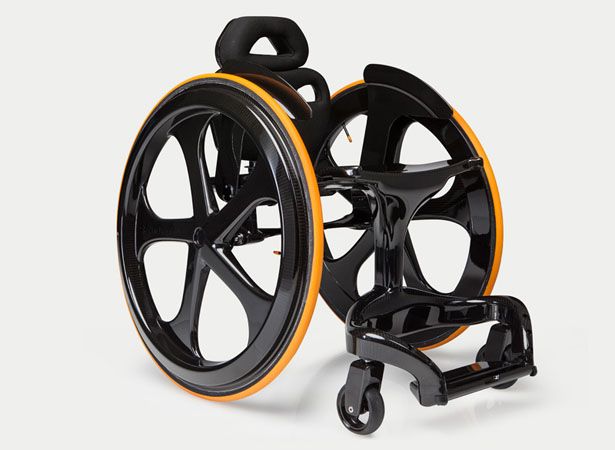 Carbon Black Wheelchair by Andrew Slorance