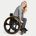 Carbon Black Wheelchair : World's Easiest Manual Wheelchair to Push
