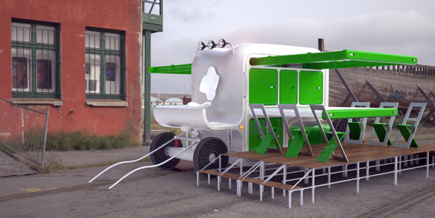 Care-Us Food Trailer by Francois Xavier Martouzet