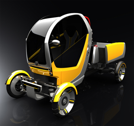 CarGo Vehicle One Seater Car Concept for Inner City Deliveries