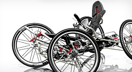 CarvX, 4 Wheels Bicycle for Extreme Off Road Experience