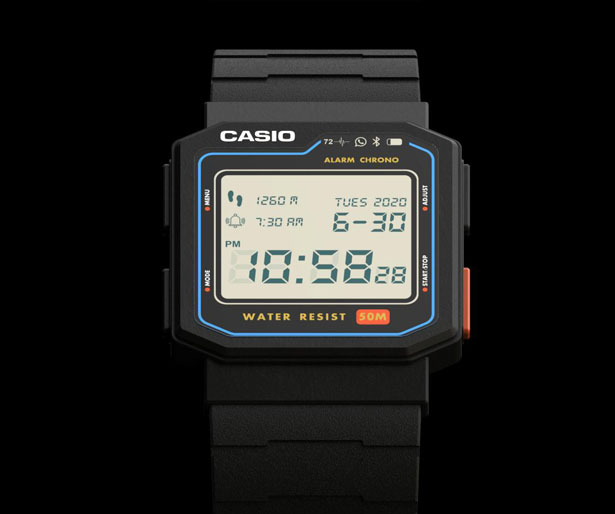 Casio Retro Smartwatch by Antonio Serrano