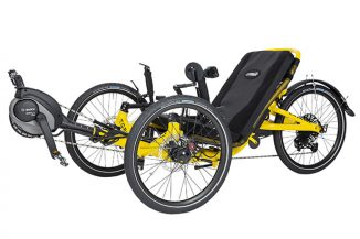 Catrike eCAT Trail Folding Electric Trike Features Fully Adjustable, Foldable Frame