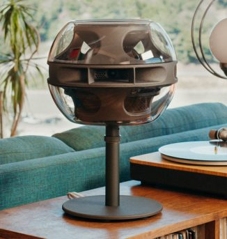 Syng Cell Alpha Triphonic Speaker Features Three Horn System That Projects Sound Straight at You