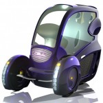 Cell Two-Seater Futuristic Vehicle Provides Ultimate Convenience In Busy City Commuting