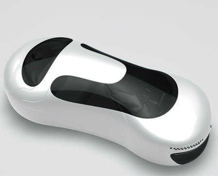 Cellogan : Futuristic Car with Eight-Shaped Body