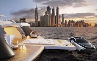 CentrostileDesign Future-E, Supercar-Inspired Concept Boat That Flies on The Waves