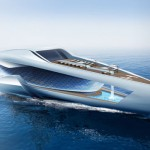 CF8 Motor Yacht : A 80m Future Concept Yacht for Cars and Family