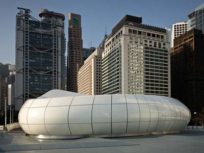 mobile art pavilion for chanel by zaha hadid