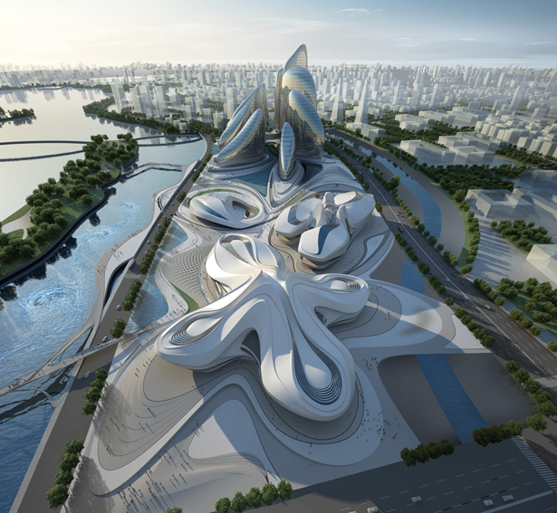 Changsha Meixihu International Culture & Art Centre by Zaha Hadid Architects
