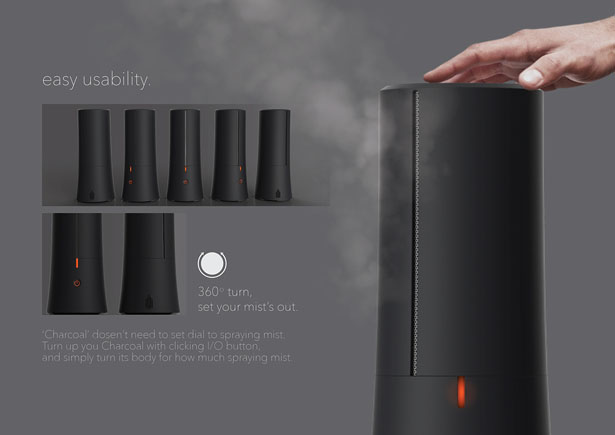 Charcoal Mist Humidifier by Sangmin Lee