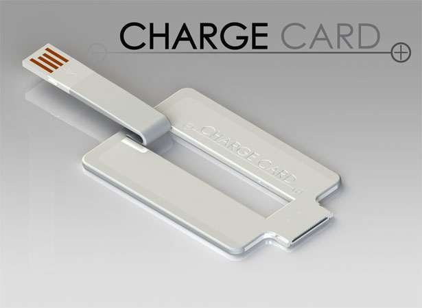 ChargeCard USB Cable Fits Into Your Wallet or Pocket