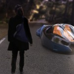 Chase 2053 Futuristic Car : 3-Wheeled Vehicle Moves On Land and Air