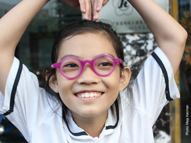 Child ViSion Glasses Feature Self-Adjustable Lens