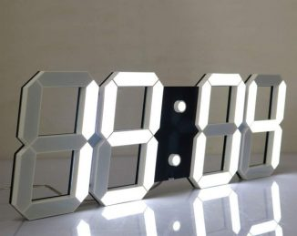 CHKOSDA Silent Multifunctional Jumbo LED Digital Wall Clock with Remote Control