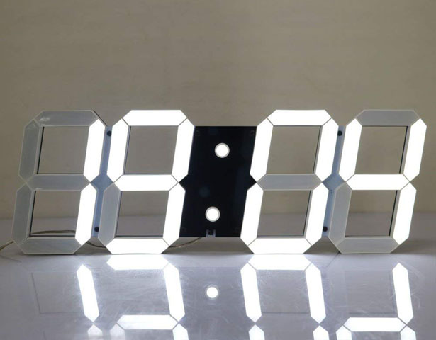 CHKOSDA Silent Multifunctional Jumbo LED Digital Wall Clock
