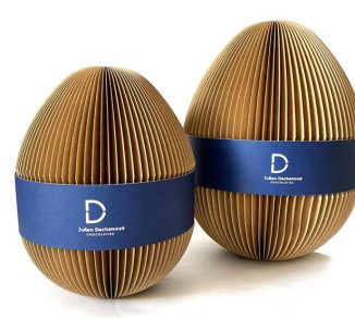Chocolate Easter Egg Packaging Design for Julien Dechenaud Chocolatier