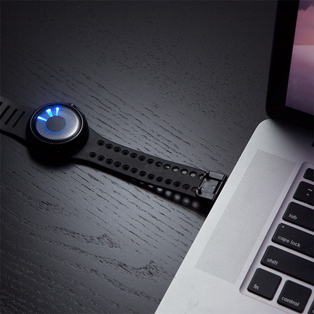 Futuristic Chromatic LED Watch