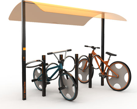 city rack for bicycle