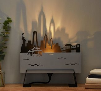 City Skyline Lamp Casts Cool Shadow of an Iconic City