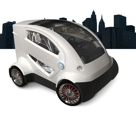 cityAnt electric car for rental