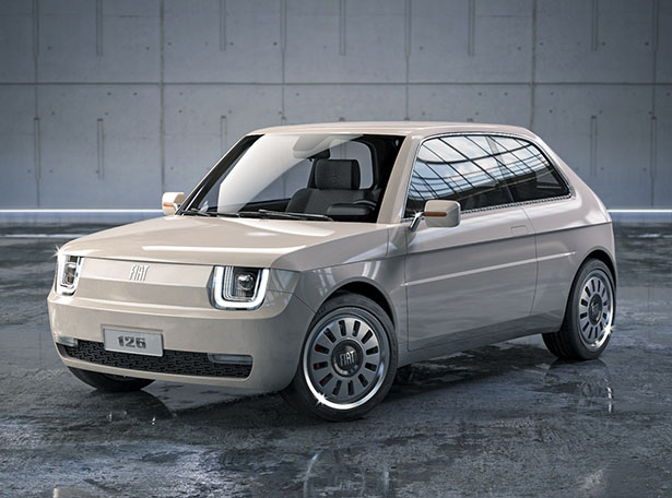 Fiat 126 Vision Redesigns Classic Fiat 126 for Millennial Generation by MA-DE Design