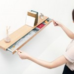 Clopen Shelf Features Secret Drawer When Pulled Using Magnetic Keys