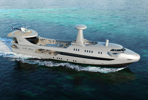 CODECASA JET 2020 Superyacht Looks Like a Jumbo Jet of The Ocean