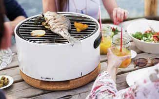 Mint Pantry Cohan BBQ – 16″ Portable Charcoal Grill for Small BBQ Party