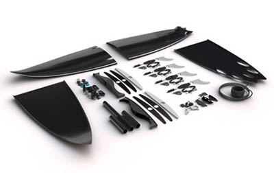 collapsible surfboard concept