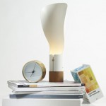 Modern Nordic Tales Collar Lamp with Organic Lampshade