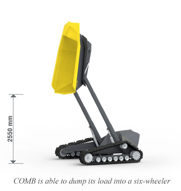 COMB Dumper for Construction Building Industry by Rostyslav Akselrud and Philip Schütz