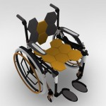 Comb Multifolding Wheelchair : Fully Adjustable Concept Wheelchair by Rudolf Mihu