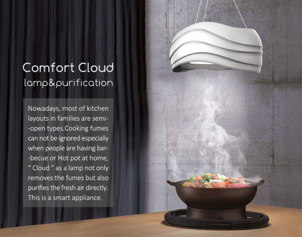 Comfort Cloud - Lamp and Air Purification by Yimu Yang, Yunpeng Li, and Jiaqi Li
