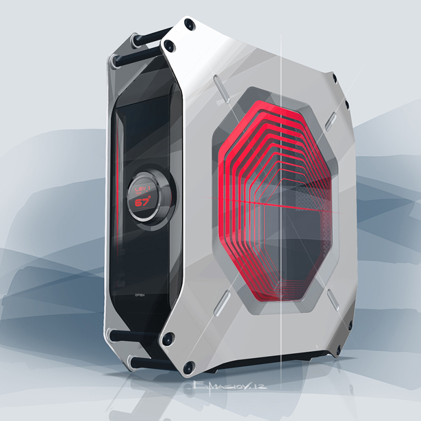 Compact Gaming PC Design for AS Rock by BMW Group DesignworksUSA