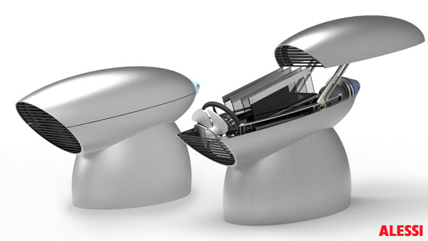 Conique Concept Toaster Looks Like An Alien Weapon by Fraser Leid