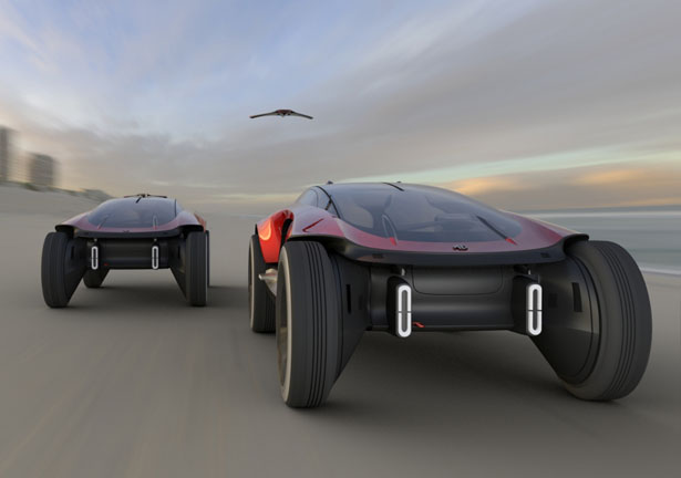 Consol-e Concept Car by Kenny Gan for SAIC Design Challenge