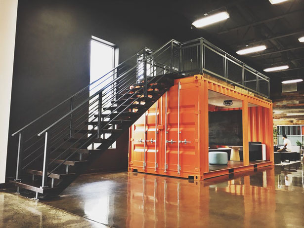 Custom Container Office Space by RAREdesignco