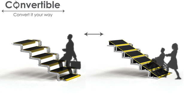 Convertible User-Friendly Staircase by Chan Wen Jie