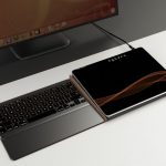 CoolPad Docking Station for Tablet with Integrated Full-Sized Keyboard, Ports, and Built-In Power Supply